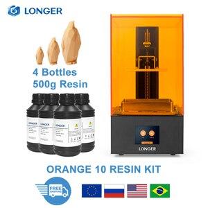 LONGER ORANGE 10 LCD SLA 3D Printer Kit With Resin Matrix UV Lighting of Resin 3D Printer Full Metal Body 3D Print Resin Printer(China)