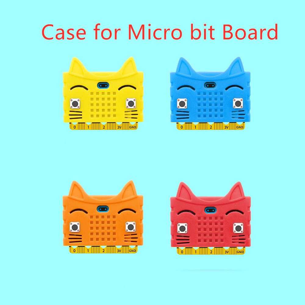 Hi-Q! Cute Cat Shape Silicone Protective Enclosure Cover Shell For Micro:bit Board (No Board)