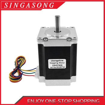 Nema23 Stepper Motor 23HS7628 23HS8430 4-Lead 270oz-in 76mm 2.8A Bipolar DM542 CE ISO ROHS CNC Router Engraving Machine Cutting image