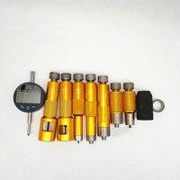 Ferramenta de medição comum da válvula ahe do bocal do injetor do trilho para bocais do injetor de bosch e de denso com pacote comum