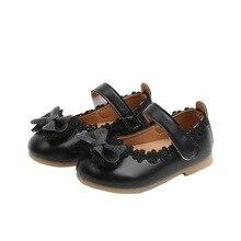 Новые Вечерние Нескользящие кожаные туфли для маленьких девочек от 6 месяцев до 3 лет кружевные туфли принцессы с бантом для маленьких девочек Нескользящие вечерние туфли для новорожденных
