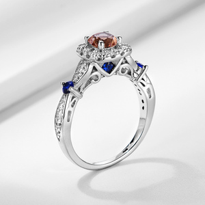 Image 3 - Kuololit zultanite Gemstone Ring for Women Solid 925 Sterling Silver Jewelry diaspore Halfsize Ring for Wedding Fine Jewelry