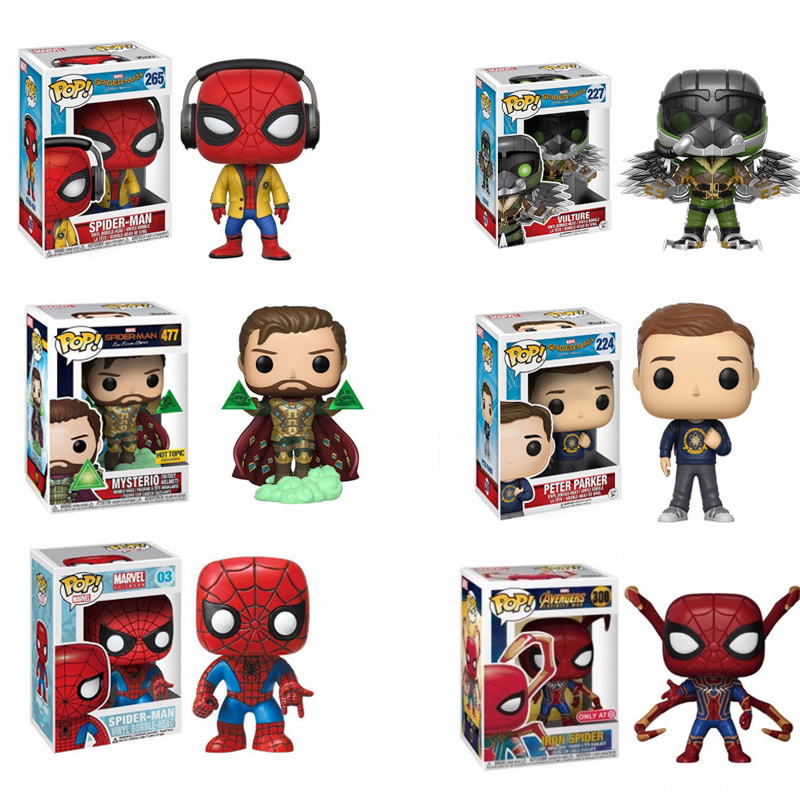 Funko POP Marvel The Avengers Spider-Man PETER PARKER Mysterio Action Figure Collection Model Toys Birthday Gift