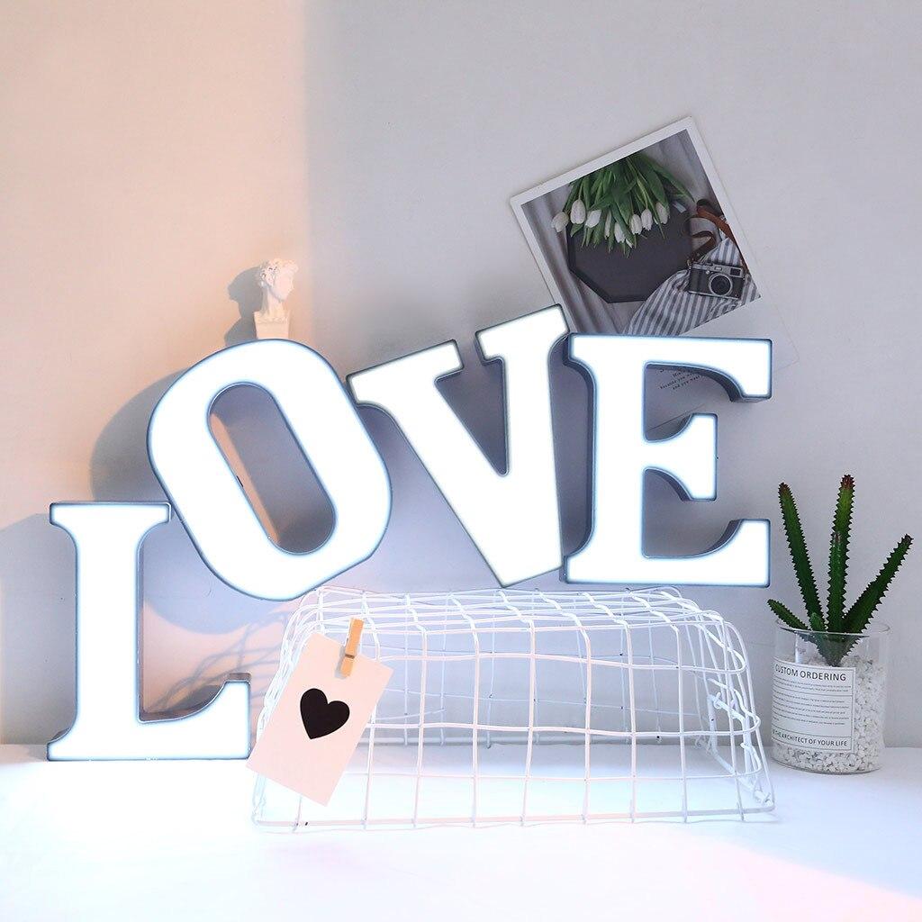Светодиодный Ночной светильник «сделай сам» с 26 буквами на английском языке, Креативный светодиодный светильник с буквами s, пластиковый св...