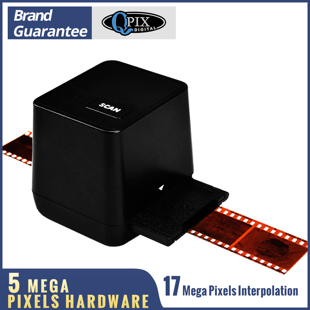 Protable Negative Film Scanner 35mm 135 Slide Film Converter Photo Digital Image 17 9 Mega Pixels Monochrome Slide Film Scanner