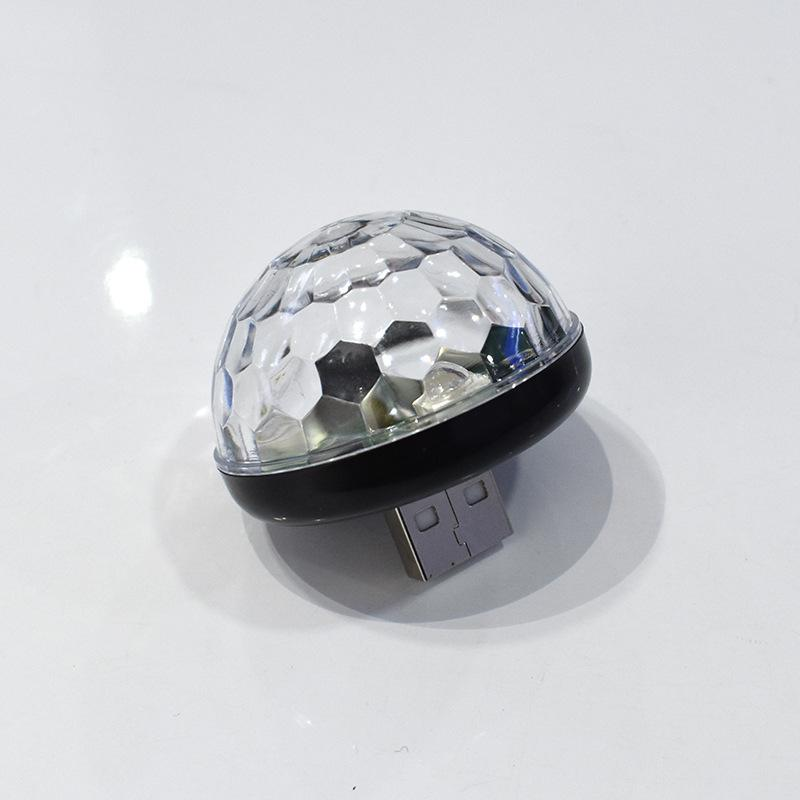 Мини USB СВЕТОДИОДНЫЙ диско этапа светильник Портативный Семья вечерние магический шар красочный светильник бар клуб сценическое освещение лампа для мобильного телефона - Цвет: black