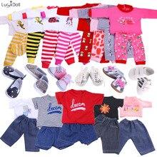 13 видов стилей пижамы, ночная рубашка, одежда для сна, подходит для 18 дюймов, американский стиль, 43 см, кукольная одежда, аксессуары, игрушки для девочек, поколение, день рождения