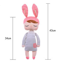 100% original 43cm genuíno meu coração pelucia animais crianças brinquedo para a menina kawaii bebê angela coelho macio lols bo