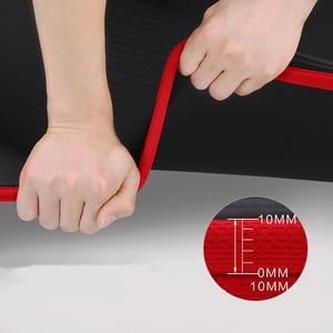 Новинка, 10 мм, утолщенный нескользящий коврик для йоги 183cmx61см, NBR, коврики для фитнеса, спортзала, Спортивная подушка, гимнастические пилатеса с сумкой для йоги и ремнем
