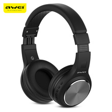 AWEI A600BL Wireless Bluetooth Over-Ear Headphones Stereo Sound Noise Canceling W/ MIC Hifi Music Headphone Wireless/ Wired Mode цена 2017