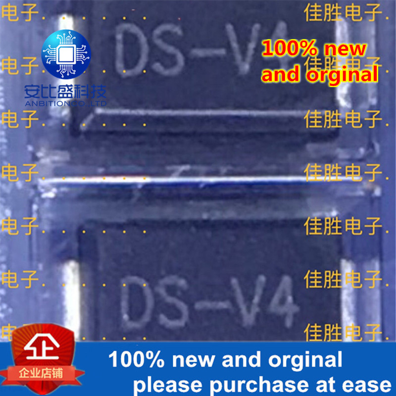 50pcs 100% New And Orginal  SMAJ400CA 400V DO214AC Silk-screen DS-V4 Two-way TVS Protecting Tube  In Stock