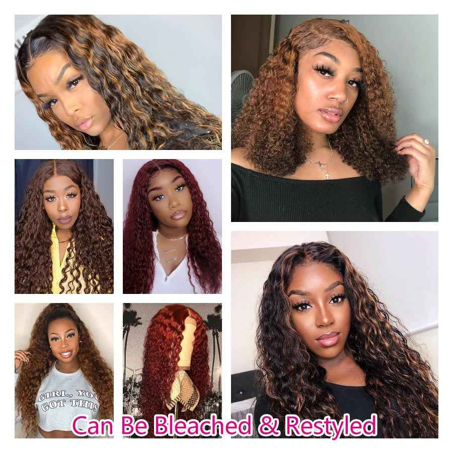 Sin pegamento, peluca Frontal de encaje 360, pelucas de cabello humano con encaje completo rizado, cabello prearrancado con cabello de bebé para mujeres negras, peluca de agua Remy