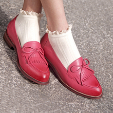 Genuine sheepskin leather brogues yinzo ladies flats shoes vintage handmade sneaker oxford shoes for women 2018 pink brown black genuine leather designer brogues vintage yinzo flats shoes handmade oxford shoes for women 2018 spring red brown beige