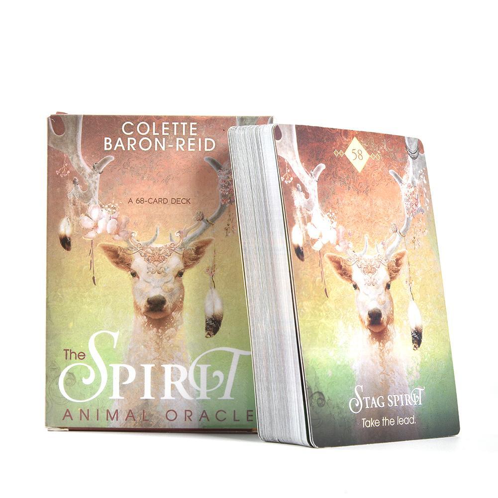 68 pièces cartes Tarot jeux de pont carte Tarot pour lesprit Animal Oracle jeu de société pour le temps de la fête jeux de cartes divertissement