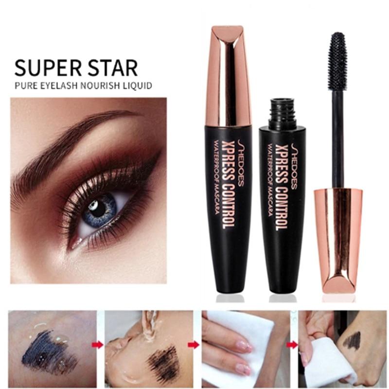 4D Silk Fiber Lash Mascara Waterproof Rimel 3d Makeup Mascara For Eyelash Extension Black Thick Lengthening Eye Lashes Cosmetics