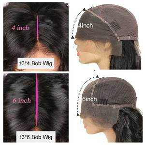 Image 4 - Ali Grace Brazilian Kinky Curly Bob Wig with Baby Hair 13x6 Pre Plucked Curly Bob Lace Front Wigs For Women Remy Curly Bob Wigs
