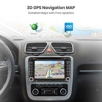 AWESAFE 2 Din 7 Inch Car DVD Radio Player For Seat/Altea/Leon/Ibiza/Altea XL/VW/PASSAT B6/Skoda In dash GPS Navigator Car Radio