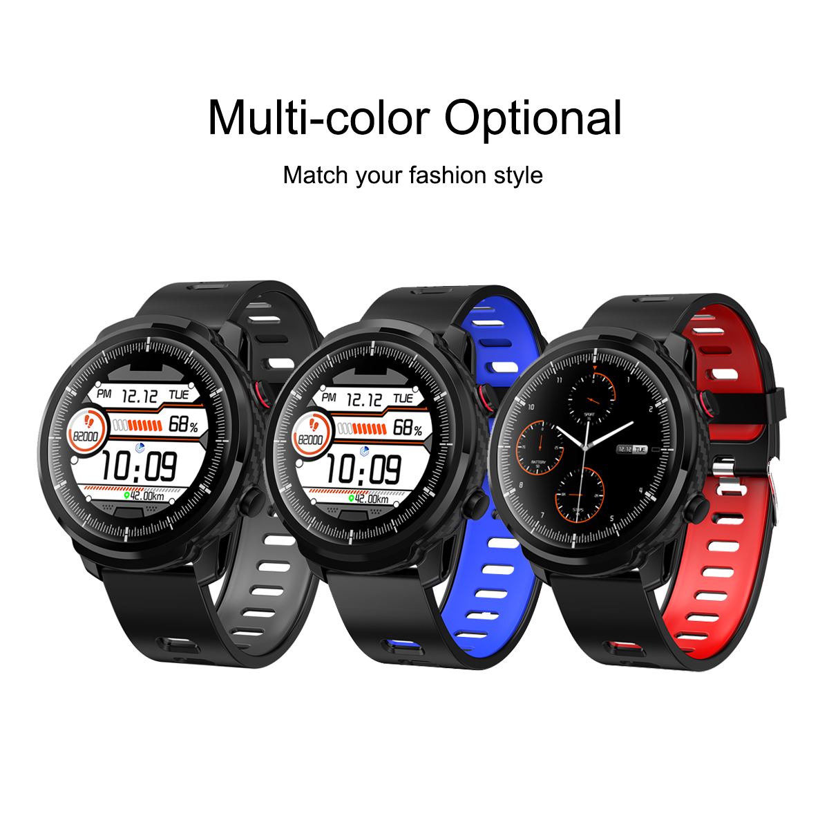 Smart watch fitness S10 touch full, water resistant, heart rate monitor for Android IOS Multi Color