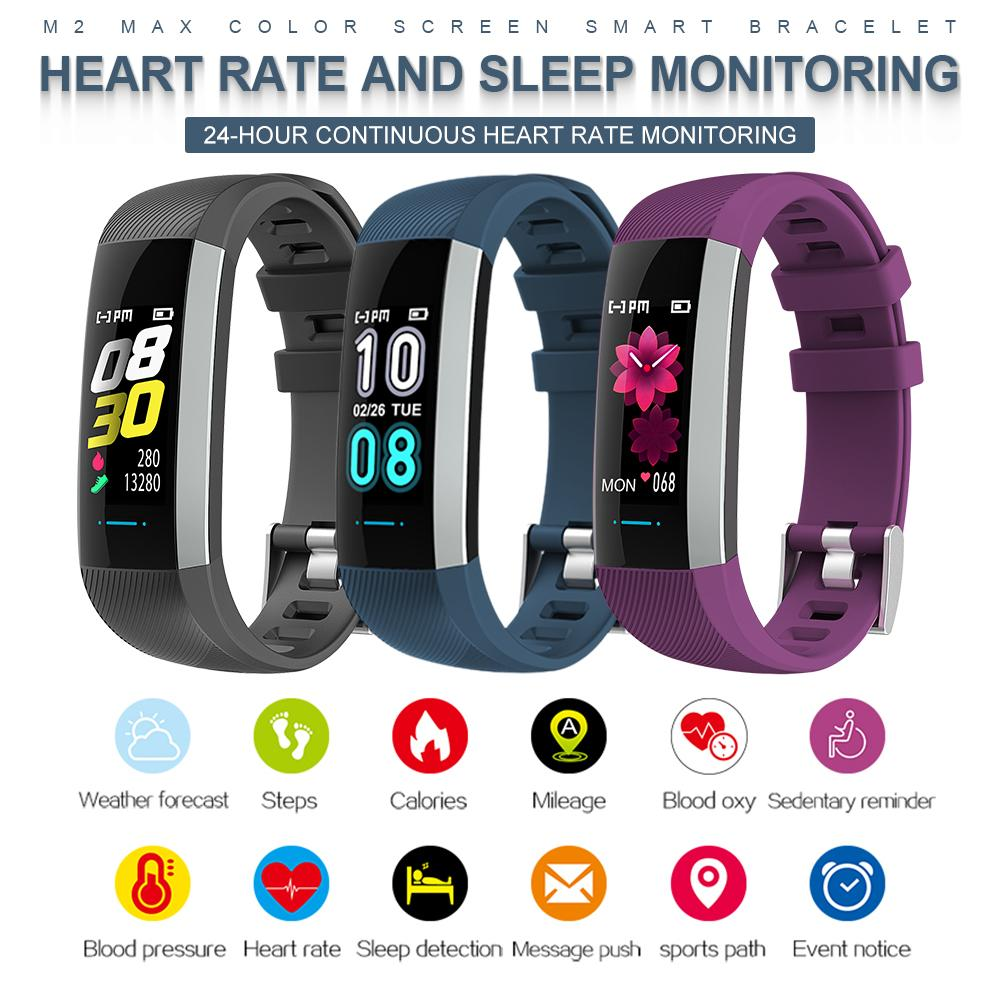 Fitness Bracelet Watch Blood-Pressure-Monitoring Color-Screen Heart-Rate Waterproof