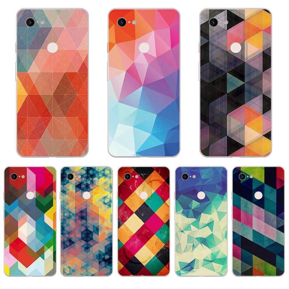 Case Geometric For Google Pixel 3 XL 2 XL 3A XL 4 XL Soft TPU Cover Phone Cases For Pixel 3XL 2XL 4XL 3Axl Fundas Coque