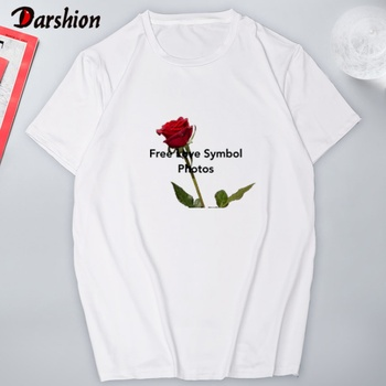 חולצה קצרה עם הדפסים לבחירה לאישה