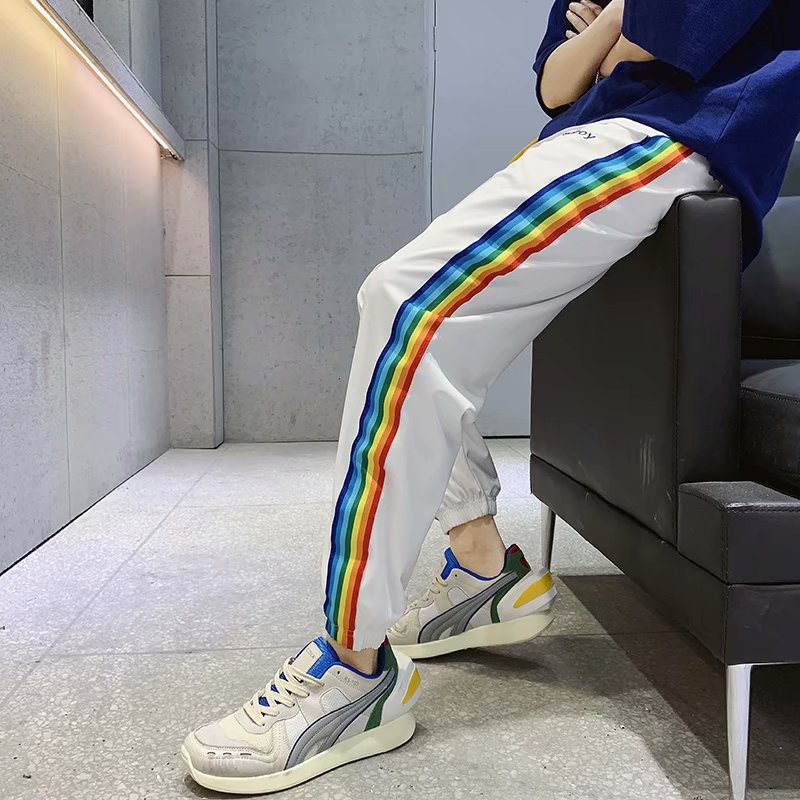 2019 Men'S Wear Spring And Summer New Style Printed MEN'S Casual Pants Athletic Pants Casual Sweatpants Men's Fashion Man Skinny