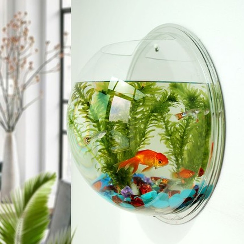 Acrylic Fish Bowl Wall Hanging Aquarium Tank Aquatic Pet Supplies Pet Products Wall Mount Fish Tank For Betta Fish