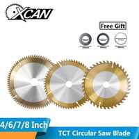 XCAN 1pc TiCN Coating TCT Circular Saw Blade 4/6/7/8 Inch 30/40/60 Teeth Carbide Tipped Wood Cutting Disc Woodworking Saw Blade