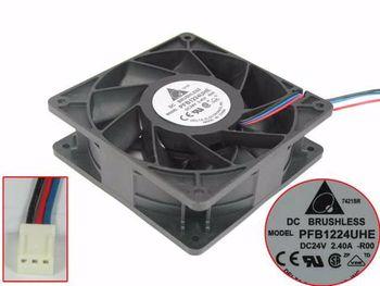 Delta Electronics PFB1224UHE -R00 DC 24V 2.4A 120x120x38mm 3-Wire Server Cooling  Fan