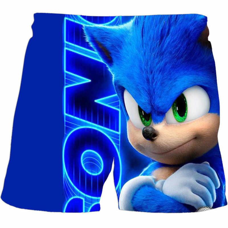 Children Boys Sonic the Hedgehog Shorts 2020 Summer 3D print Design Kids Casual
