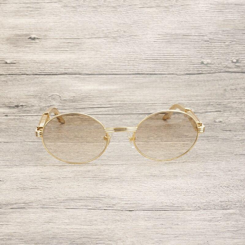 Di lusso Oro Occhiali Da Sole Da Uomo Accessori In Acciaio Inox Telaio Occhiali Da Vista Occhiali per Club di Guida Occhiali Chiari Oculos Occhiali - 5