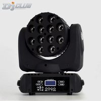 LED 12x12W wash moving head led stage light rgbw RGBW 4in1 Quad LED Lamp Advanced 9/16 DJ DMX Channels For Professional Stage