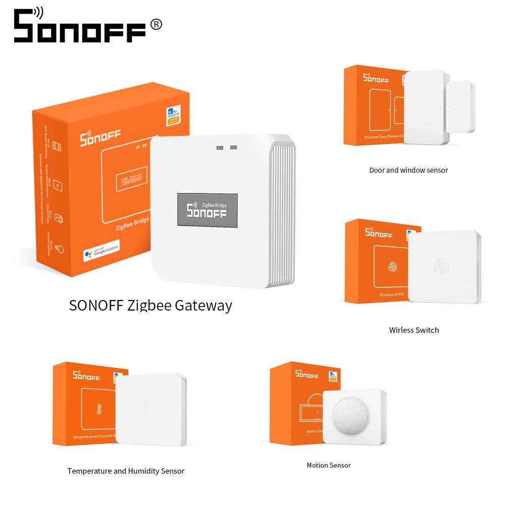 Sonoff ZigBee Motion Sensor Wireless Door Window Sensor Wireless Switch Temperature Humidity Sensor Works with Sonoff Bridge