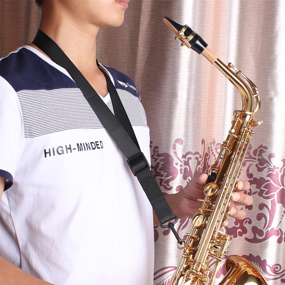 New Arrival Universal Adjustable Saxophone Clarinet Single Shoulder Neck Strap Oxford Cloth Wind Instrument Parts Accessories
