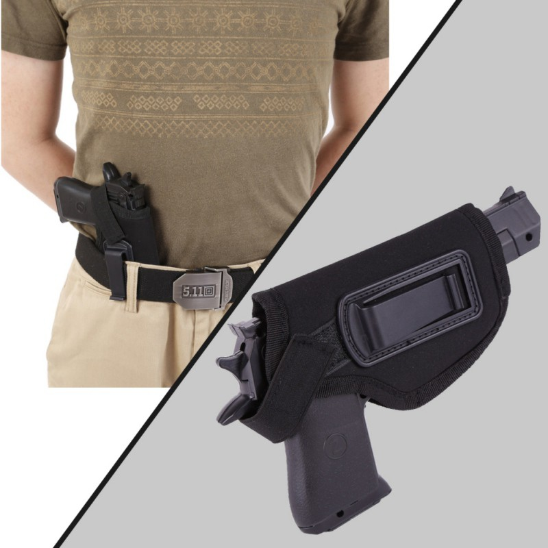 Hunting Pistol Black Tactical Durable EVA With Plastic Hand Styrofoam Right Waist Sheath Nice Holster Hidden Clips