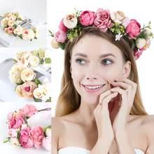 Женская Цветочная повязка на голову праздничная Свадебная вечеринка