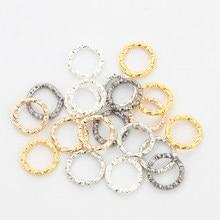 50-100 pces 8-20mm chapeado ouro prata salto anéis redondos torcidos anéis rachados conectores para fazer jóias diy suprimentos artesanais
