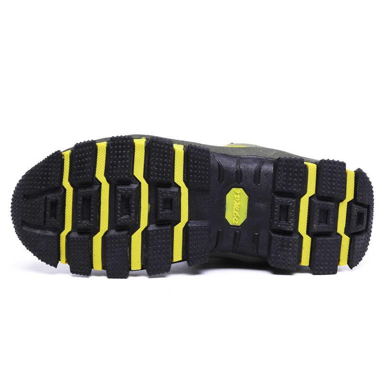 2019 kış su geçirmez kar botları sıcak hafif erkekler çizmeler ile kürk rahat iş güvenliği rahat ayakkabılar ayak bileği yıkılmaz