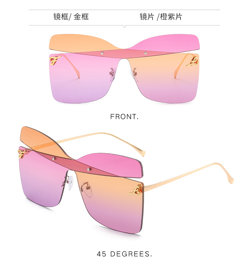 H0c40764a154f4db7859198eb10c64a88R - New fashion trend frameless sliced sunglasses transparent ocean sheet metal sunglasses ladies sunglasses