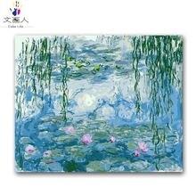 Раскраска по номерам Мона водяная Лилия цифровая масляная краска