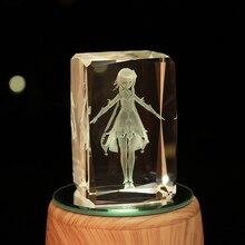 Anime Genshin Impact Peripheral Colorful Luminous Crystal Ornaments Kaya Keli Creative Toy Birthday Gift Doll Model