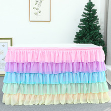 Wedding Party Tutu Tulle Table Skirt Cover Tableware Cloth Baby Shower Party Home Decor Table Skirting Birthday Party