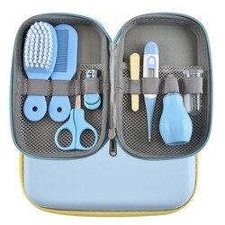 8 Stks/set Baby Nagelschaartje Clipper Draagbare Zuigelingskind Gezondheidszorg Gereedschap Sets Pasgeboren Grooming Care Kits Voor Peuter Gift