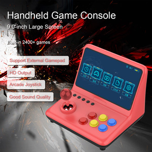Video Game Console Arcade Joystick Built-in 2400 Game 9.0-inch Screen Music Video Player Output Support Wired Gamepad Connection