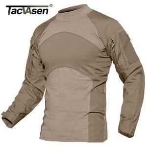 Image 5 - TACVASEN Männer Sommer Taktische T shirt Armee Kampf Airsoft Tops Langarm Militär t shirt Paintball Jagd Camouflage Kleidung 5XL