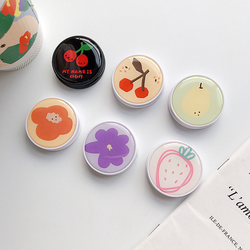 Cute Cartoon Fruit Flower Cherry Strawberry Expanding Grip Finger Rring Holder Stand Universal Cell Phone Bracket For IPhone 11