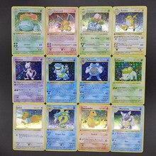 Pokemon 55 sztuk/zestaw Charizard Pikachu doskonała reprodukcja karty supergra kolekcja Anime karty zabawki dla dzieci prezent na boże narodzenie