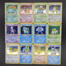 Collection Toys Pikachu Reproduction-Card Anime-Cards Charizard Pokemon Super-Game Children