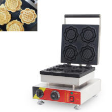 Commercial Electric 4PCS Belgian Sunflower Shape Waffle Maker Waffle Iron Machine 110v 220v CE недорого