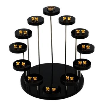 3/12 Tray Round Acrylic Jewelry Display Racks Ring Earring Display Stand Rack Jewelry Stoarge Racks Jewelry Organizer Holder NEW фото